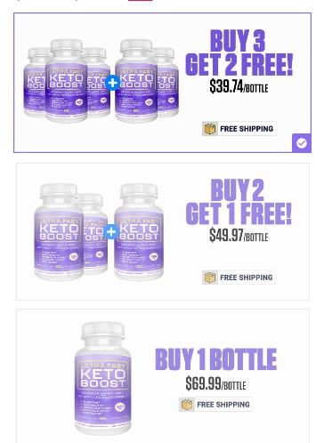 ultra fast keto boost price